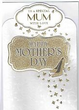 To A Special MUM With Love ~ Quality LARGE MOTHER'S DAY CARD Gold Shoes Design