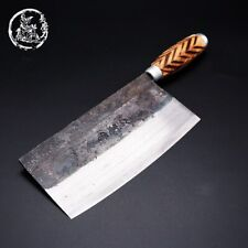 SHUOJI Chinese Kitchen Knives Handmade Wooden Handle Cutting Knife Traditional