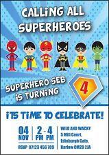 buy superhero party invitations ebay