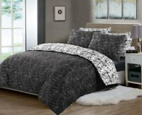 Duvet Cover 100% Cotton Reversible Bedding Sets Quilt Covers Double King Size