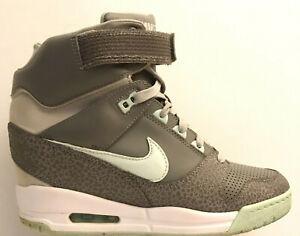 Nike Air Revolution Sky HI Women's Size 7 Shoes Wedge Gray Aqua Green 599410-006