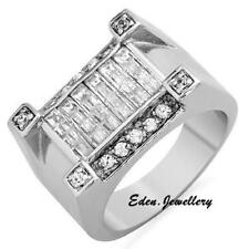 WOW ,,, Exquisite Men Ring Crafted with Sterling Silver 2.0ctw Cubic Zirconia