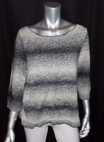 LANE BRYANT NEW Gray/Black Marled 3/4 Sleeve Boat Neck Sweater Plus sz 22/24W