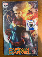 Captain Marvel #1 - Artgerm Walmart Exclusive - Long Hair Variant - Sealed 3Pack