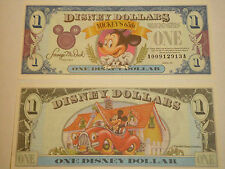 1993 $1 Disney Dollar featuring Mickey - A or D Series  NEW