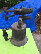 Vintage Antique Clayton & Lambert Co Brass Blow Torch - Rare Double Valve & Pump