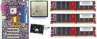 Retro Motherboard ECS 648fx-A Rev.1.0 + Intel Petium 4 socket 478+ ram 3 GB DDR1