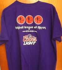 KICKBALL LEAGUE OF AKRON lrg T shirt logo Ohio tee Coors Light