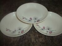 Vintage Canonsburg  Skyline Wild Clover Coupe Soup Bowl Set of Three