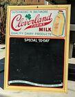 "Vintage 23"" CLOVERLAND FARMS MILK Baltimore Chalkboard Advertising Metal Sign"