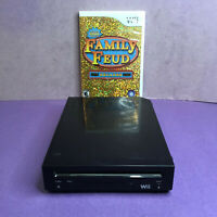 Nintendo Wii Replacement Console System Only Black RVL-101 TESTED w/Family Fued