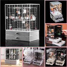 3/4 Trays+Drawer Acrylic Earring Display Rack Stand Organizer Holder Storage Box