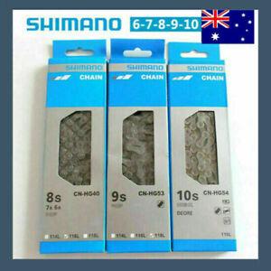 For SHIMANO 116 Links 7/8/9/10 Speed Bike Chain MTB Road Racing Bicycle Chain AU