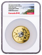 2017 Canada Whispering Maple Leaves 3 oz Silver Gilt $50 NGC PF69 UC ER SKU48644