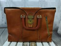 Gary's Italian leather briefcase laptop luggage travel bag tote vintage career