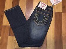 True Religion Johnny Big T Black Ultra Low Rise Straight Leg Jeans Size 28