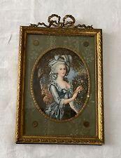 19th C. MINIATURE PORTRAIT Of MARIE ANTONIETTE QUEEN OF FRANCE ON IVORY