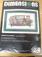 """Dimensions Counted Cross Stitch Kit  """"Garden Collectibles"""" #3782 -9"""" X 16"""" - NIP"""