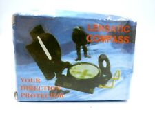 Lensatic Compass Military Camping Hiking Army Style Survival - NEW
