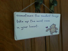 Winnie The Pooh Picture Quote Plaque , Sign. Solid Wood. Shabby chic gift. #P7