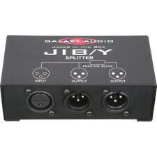 Galaxy Audio JIB/Y XLR Microphone 1 to 2 Splitter Box