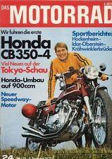 M7224 + Test HONDA CB 350-4 + Vorstellung Benelli 750 Sei + DAS MOTORRAD 24/1972