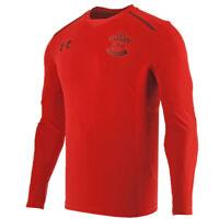 Southampton Under Armour Mens Football Red Slim Fit Training Shirt 2017 2018