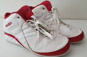 AND1 Rocket 3.0 Mens Basketball Shoes Size US 7 - White, Red Sneakers