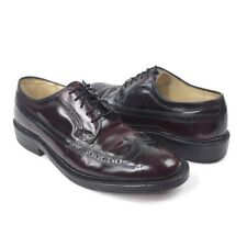 Vintage American Gentlemen Brown leather wingtip dress oxfords Size 10 D 895060