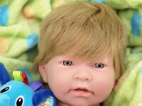 """Baby Cute Boy Blond Doll 17"""" Berenguer Alive Newborn Reborn Soft Vinyl Silicone"""