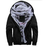 New Winter Warm Fur Lined Hooded Slim Casual Men Boys Padded Jacket Coat Outwear