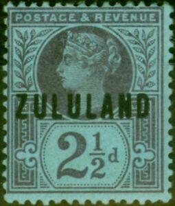 Zululand 1891 2 1/2d Purple-Blue SG4 Fine Mtd Mint Stamp