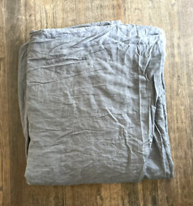 West Elm King Duvet Cover Linen Grey Gray Size 92 X 108