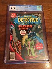 Detective Comic #478 CGC 7.5! Clay Appearance! 1978!  New Case! ⭐️⭐️⭐️