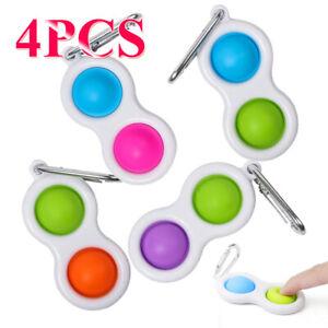 4PCS Baby Simple Dimple Toys Intelligence Development Fat Brain Kids Fidget Game