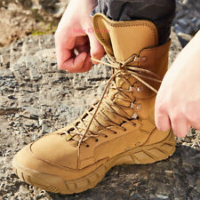 Mens Military Tactical Work Boots Desert Leather Combat Outdoor SWAT Shoes A367