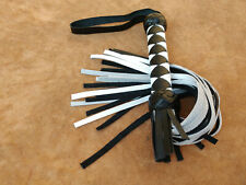 Black and White Beautiful leather flogger