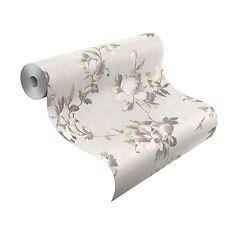 Emilia Rose Papier Peint Fleur Crème Rose Vif Doré - Rasch 502114 FLEURS NEUF