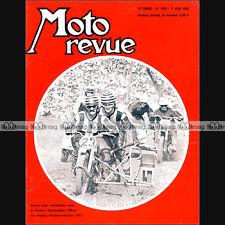 MOTO REVUE N°1935 SUZUKI T 125 & T 500 JEAN AUREAL TOURIST TROPHY SIDE CAR 1969