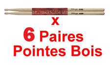 6 Paires de Baguettes en ERABLE  5A Pointe BOIS