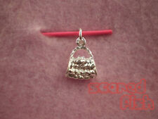 925 Sterling Silver HANDBAG Pendant Charm w/Jump Ring