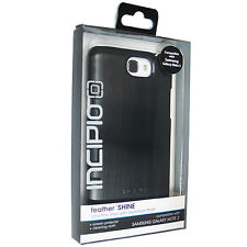 New Incipio Black Feather Shine for Samsung Galaxy Note 2 Ultra Thin Shell Case