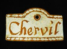 Chervil Herb Garden Sign and Plant Marker Handmade Ceramic Stoneware Tile