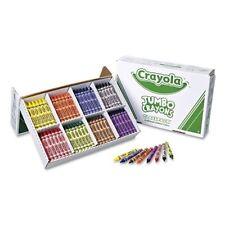 Crayola Jumbo Crayons Classpack (8 Different Brilliant Colors)- CYO528389