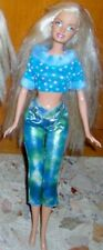 BAMBOLA BARBIE DOLL PUPE MUNECA PUPPEN-ABITO BLUE DRESS,LUNGHI CAPELLI LONG HAIR