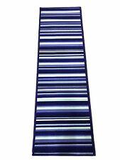 Tappeto cucina  57 x 180 blue azzurro  righe bianco moderno bagno antiscivolo