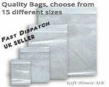 100 Small Clear Bags Plastic Baggies Baggy Grip Self Seal Resealable Zip Lock