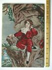 """Antique Petit Point Tapestry of Old Master Painting The Red Boy - 13 x 8.7"""""""