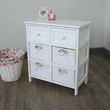 Blanc armoire panier de rangement unité tiroirs hall salle de bain