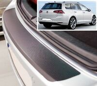 VW Golf Mk7 Familiar - estilo Carbono Parachoques trasero PROTECTOR